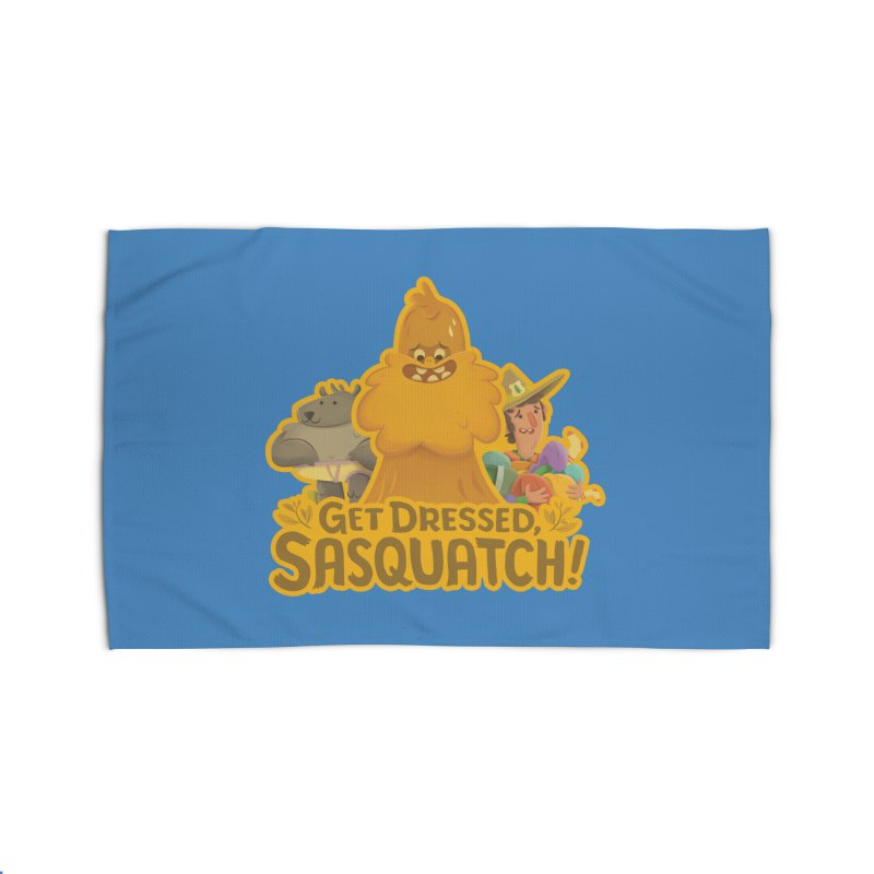 Get Dressed, Sasquatch! Home Rug by Hazy Dell Press