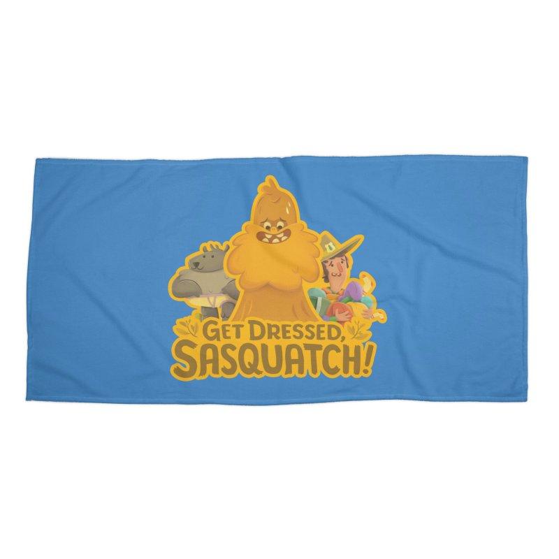 Get Dressed, Sasquatch! Accessories Beach Towel by Hazy Dell Press