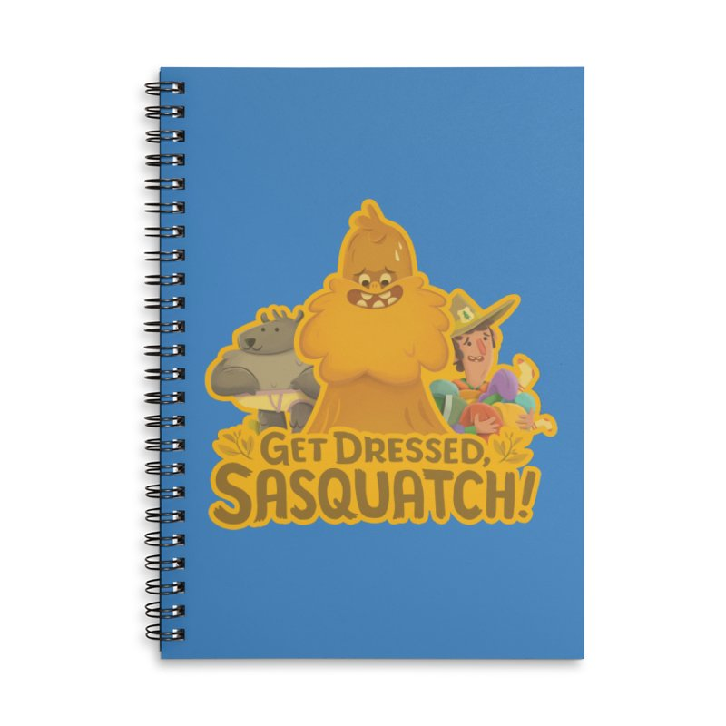 Get Dressed, Sasquatch! Accessories Lined Spiral Notebook by Hazy Dell Press