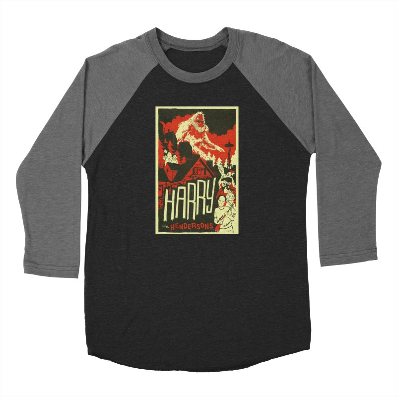 Harry and the Hendersons Men's Baseball Triblend Longsleeve T-Shirt by Hazy Dell Press