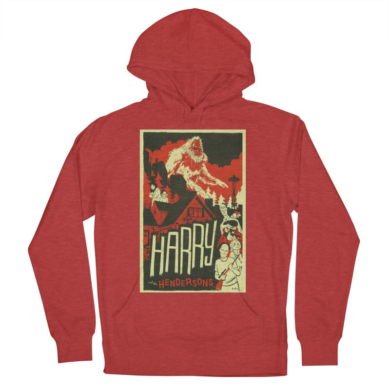 Harry and the Hendersons Men's French Terry Pullover Hoody by Hazy Dell Press