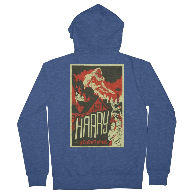 Harry and the Hendersons Men's French Terry Zip-Up Hoody by Hazy Dell Press