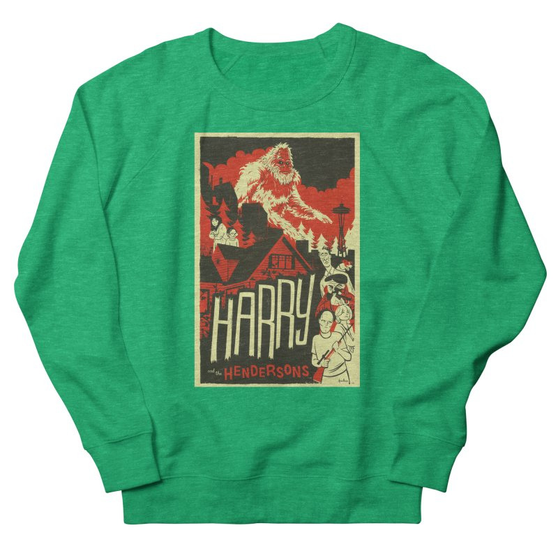 Harry and the Hendersons Men's French Terry Sweatshirt by Hazy Dell Press