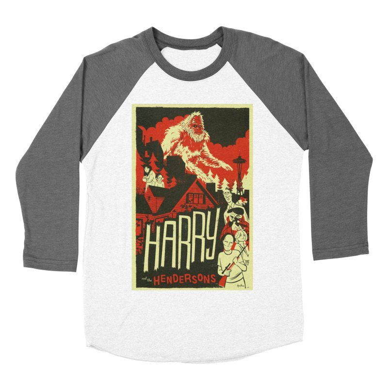 Harry and the Hendersons Women's Baseball Triblend Longsleeve T-Shirt by Hazy Dell Press