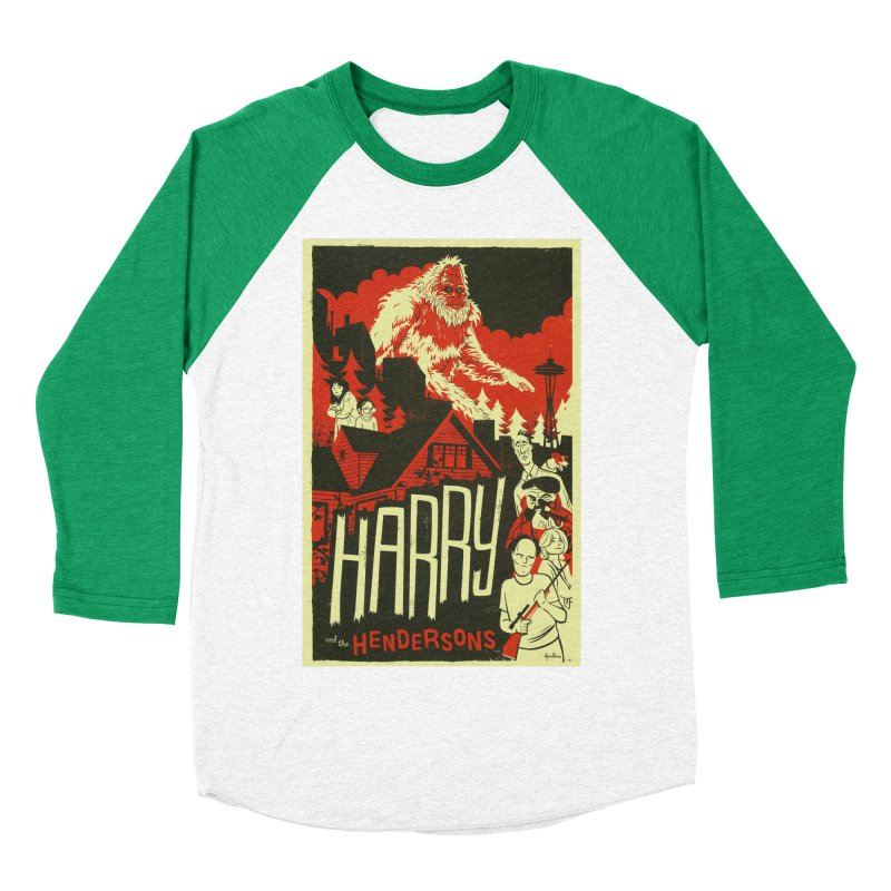 Harry and the Hendersons Women's Baseball Triblend T-Shirt by Hazy Dell Press