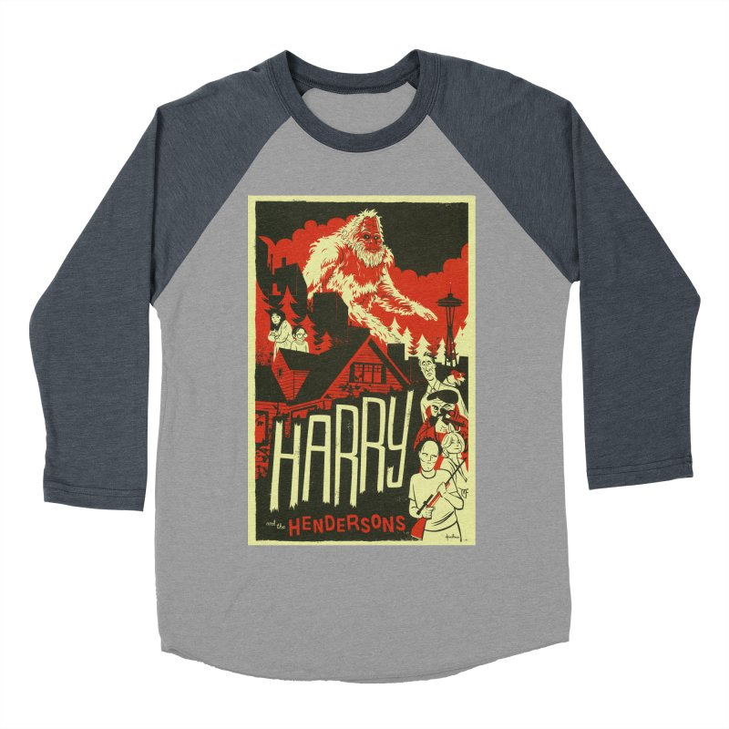 Harry and the Hendersons Men's Baseball Triblend T-Shirt by Hazy Dell Press