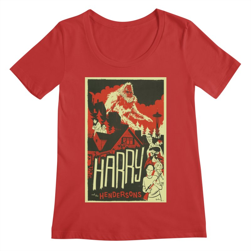 Harry and the Hendersons Women's Regular Scoop Neck by Hazy Dell Press