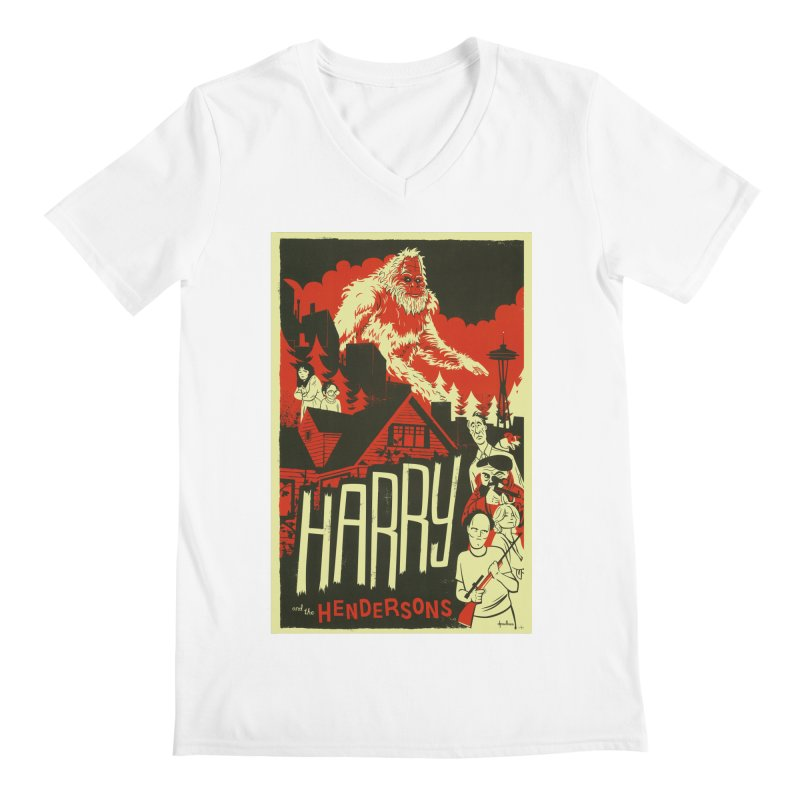 Harry and the Hendersons Men's Regular V-Neck by Hazy Dell Press