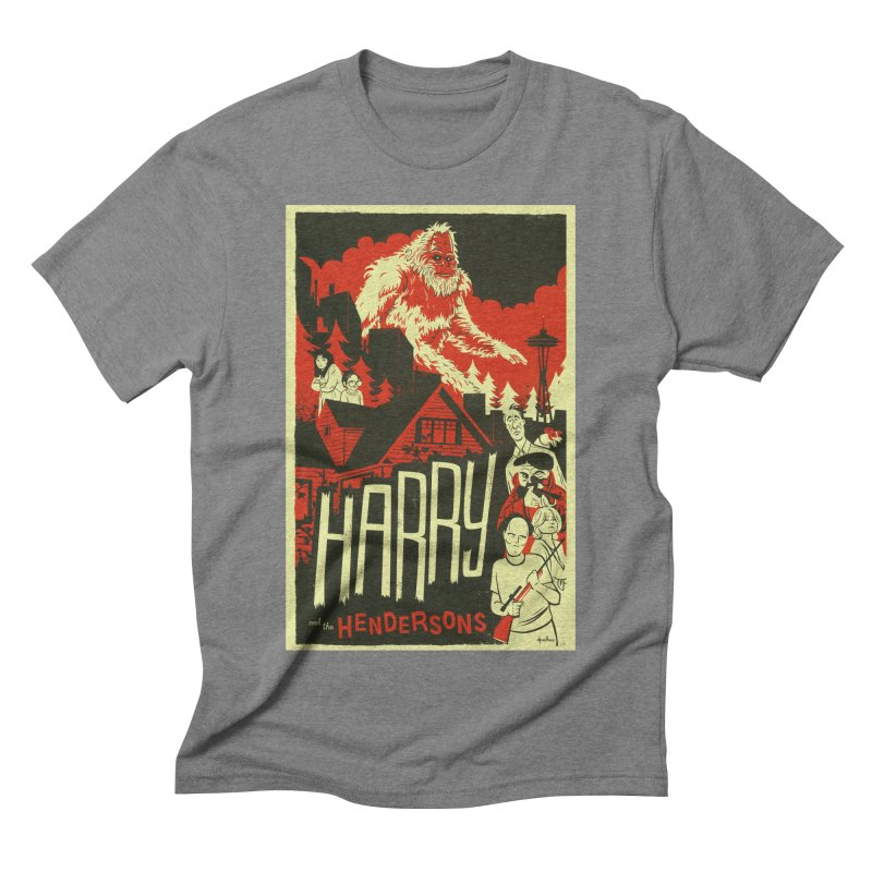 Harry and the Hendersons Men's Triblend T-shirt by Hazy Dell Press