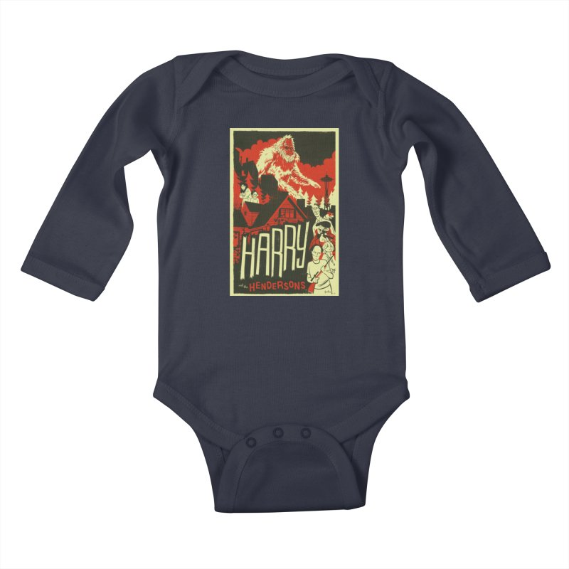Harry and the Hendersons Kids Baby Longsleeve Bodysuit by Hazy Dell Press