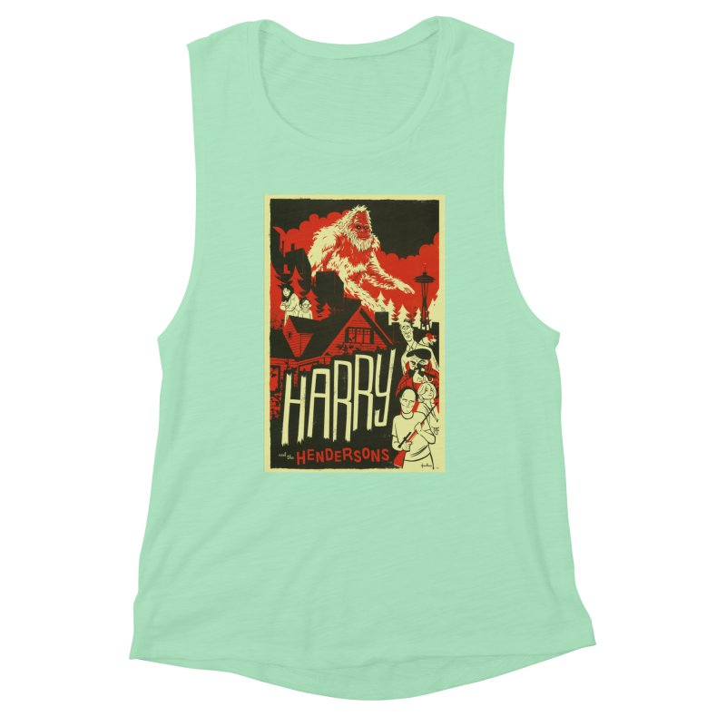 Harry and the Hendersons Women's Muscle Tank by Hazy Dell Press