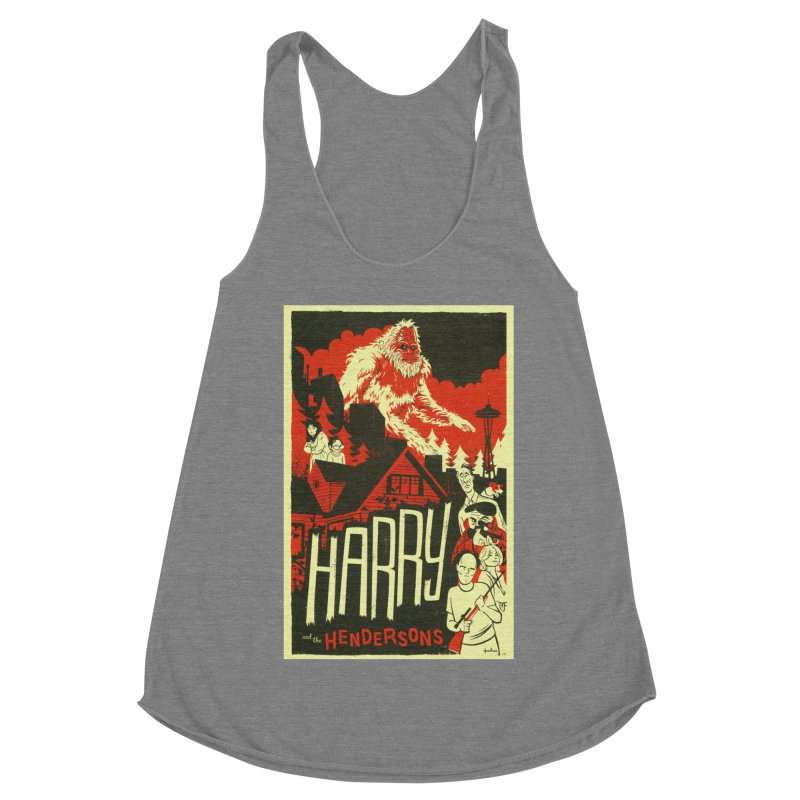 Harry and the Hendersons Women's Racerback Triblend Tank by Hazy Dell Press