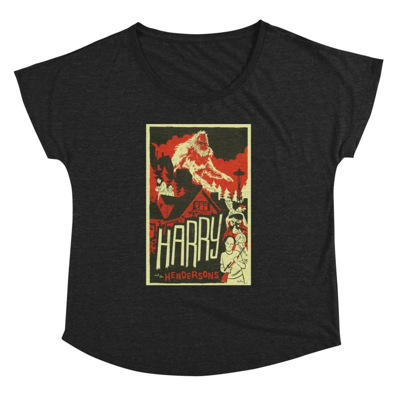 Harry and the Hendersons Women's Dolman Scoop Neck by Hazy Dell Press
