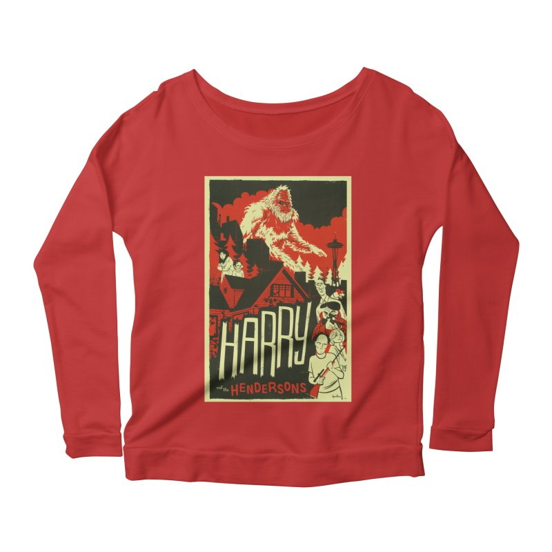 Harry and the Hendersons Women's Longsleeve Scoopneck  by Hazy Dell Press