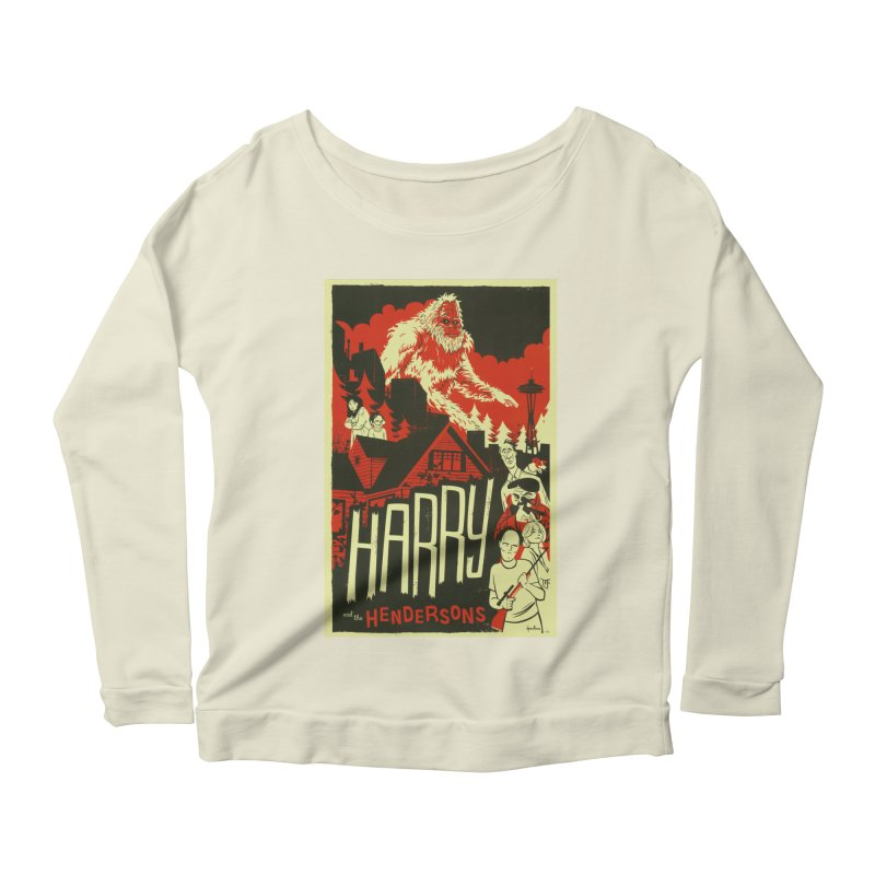 Harry and the Hendersons Women's Scoop Neck Longsleeve T-Shirt by Hazy Dell Press