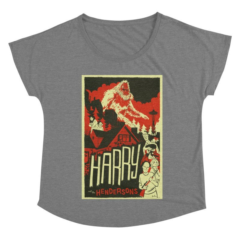 Harry and the Hendersons Women's Scoop Neck by Hazy Dell Press