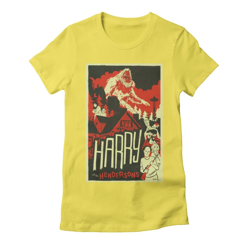 Harry and the Hendersons Women's Fitted T-Shirt by Hazy Dell Press