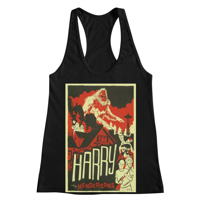 Harry and the Hendersons Women's Racerback Tank by Hazy Dell Press