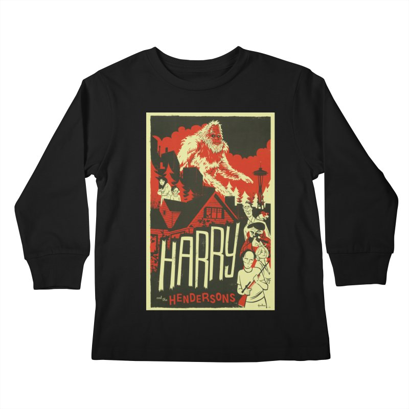 Harry and the Hendersons Kids Longsleeve T-Shirt by Hazy Dell Press
