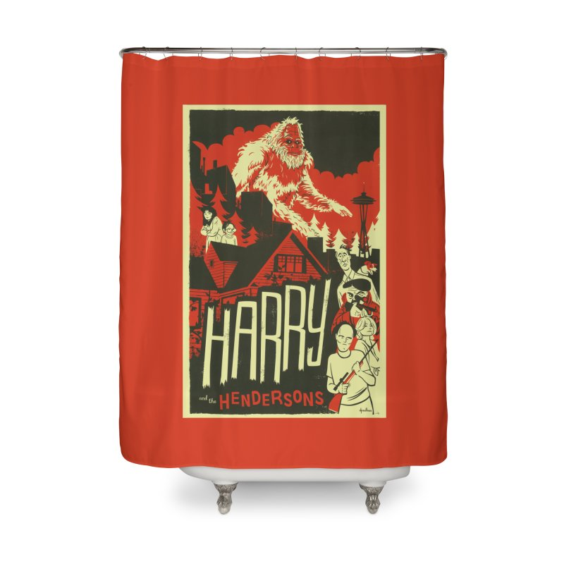 Harry and the Hendersons Home Shower Curtain by Hazy Dell Press