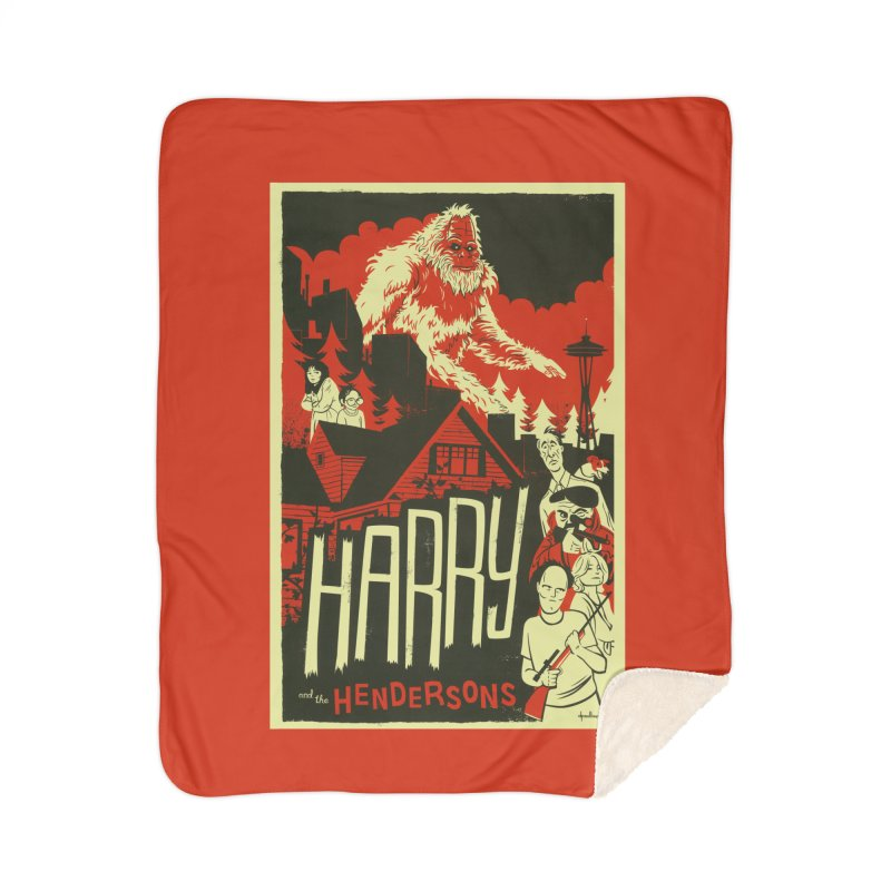 Harry and the Hendersons Home Sherpa Blanket Blanket by Hazy Dell Press