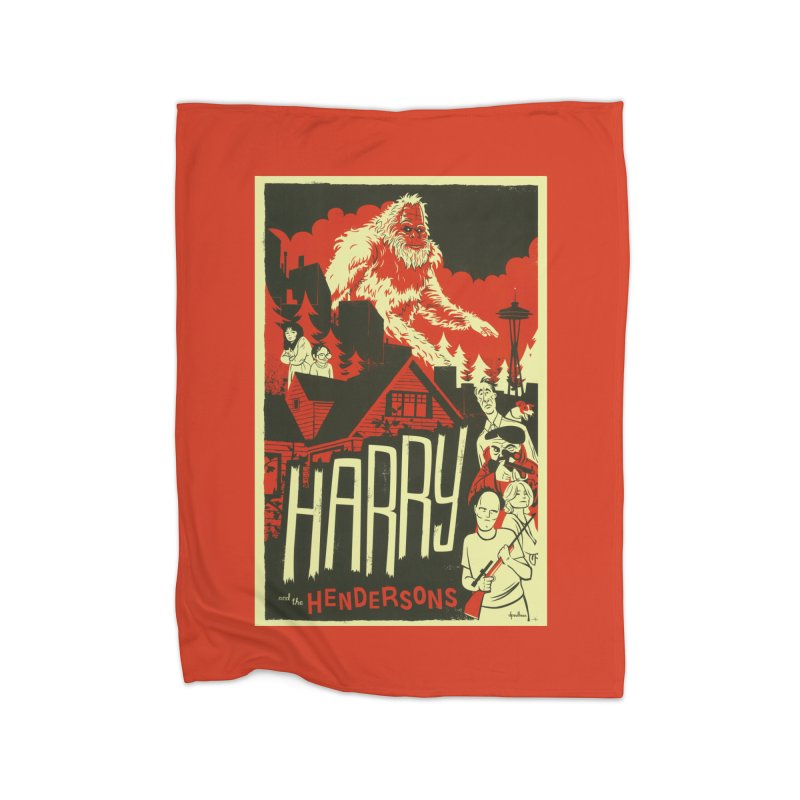 Harry and the Hendersons Home Fleece Blanket Blanket by Hazy Dell Press