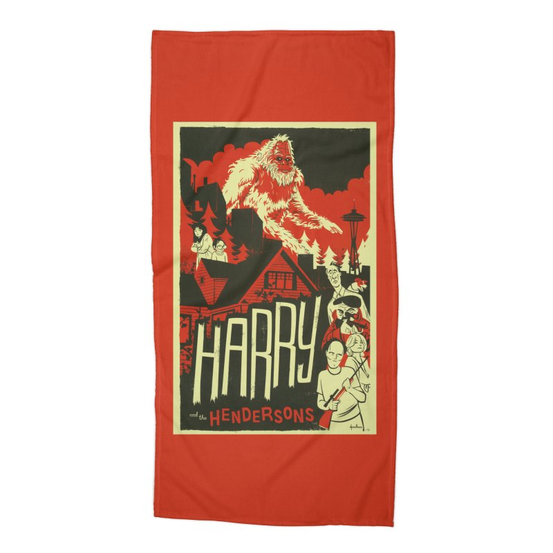 Harry and the Hendersons Accessories Beach Towel by Hazy Dell Press