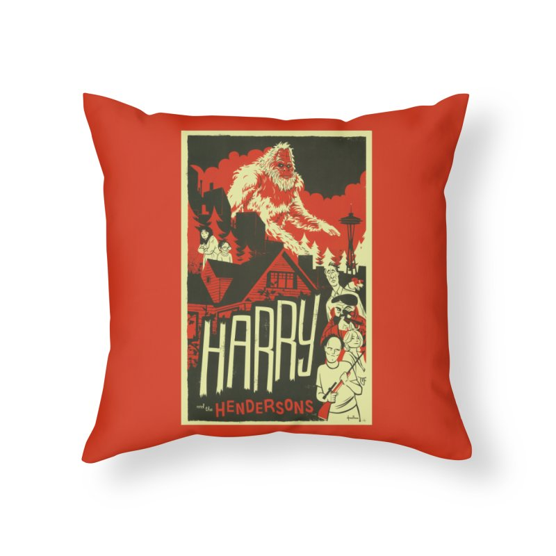Harry and the Hendersons Home Throw Pillow by Hazy Dell Press