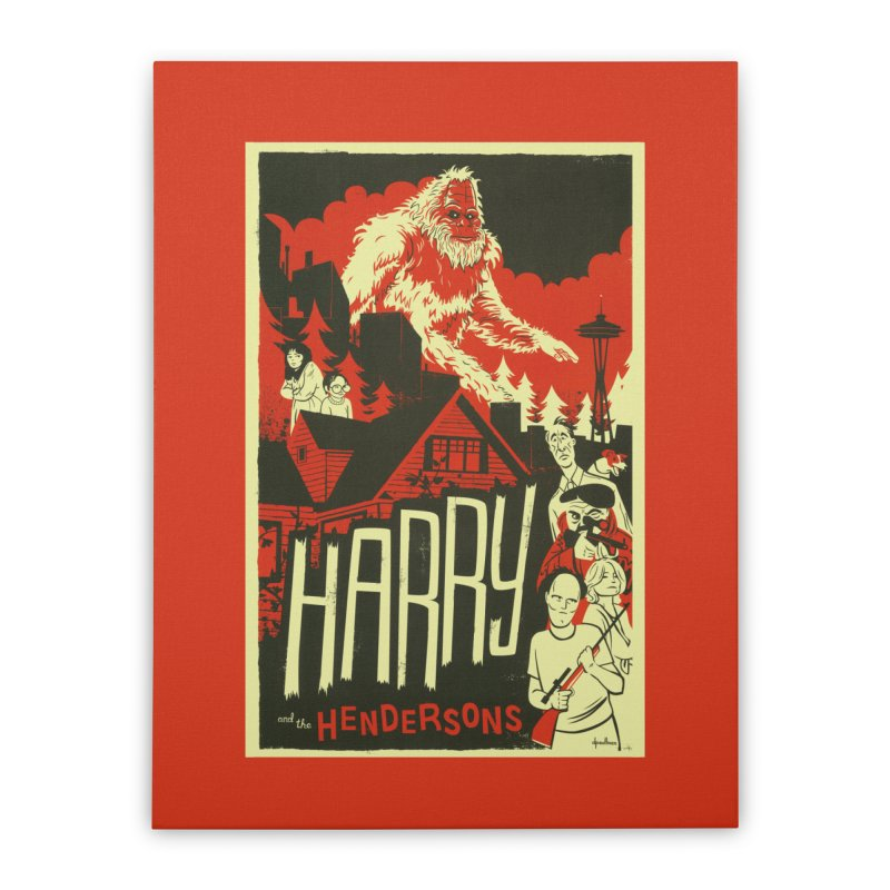 Harry and the Hendersons Home Stretched Canvas by Hazy Dell Press
