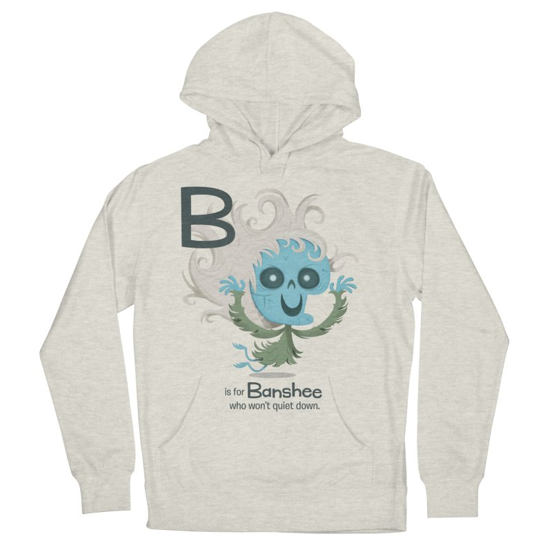 B is for Banshee Women's French Terry Pullover Hoody by Hazy Dell Press