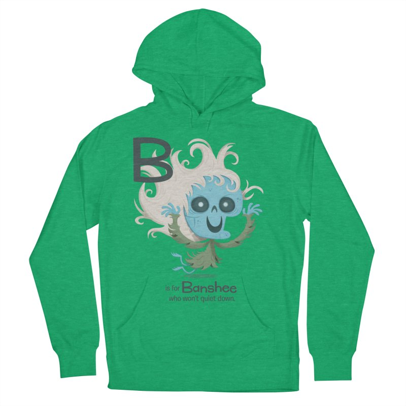 B is for Banshee Men's French Terry Pullover Hoody by Hazy Dell Press