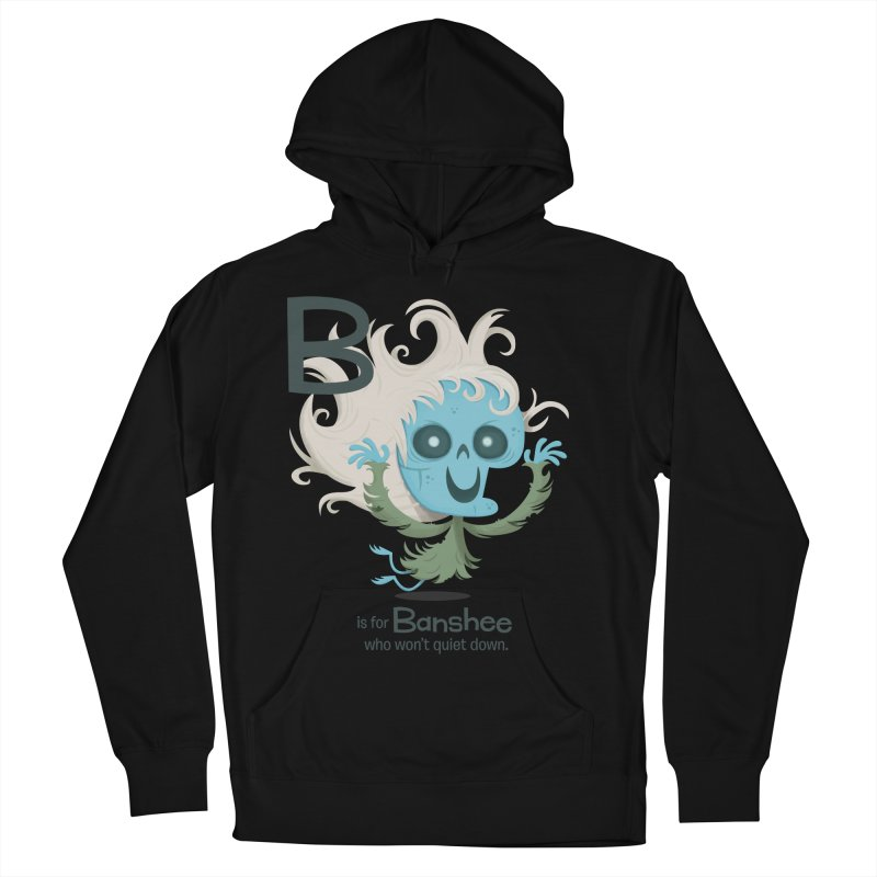 B is for Banshee Men's Pullover Hoody by Hazy Dell Press