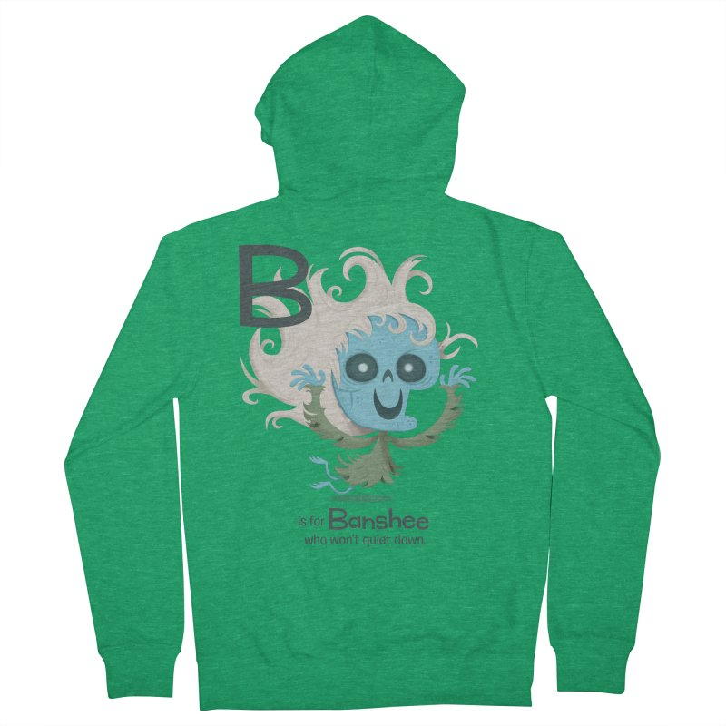 B is for Banshee Women's Zip-Up Hoody by Hazy Dell Press