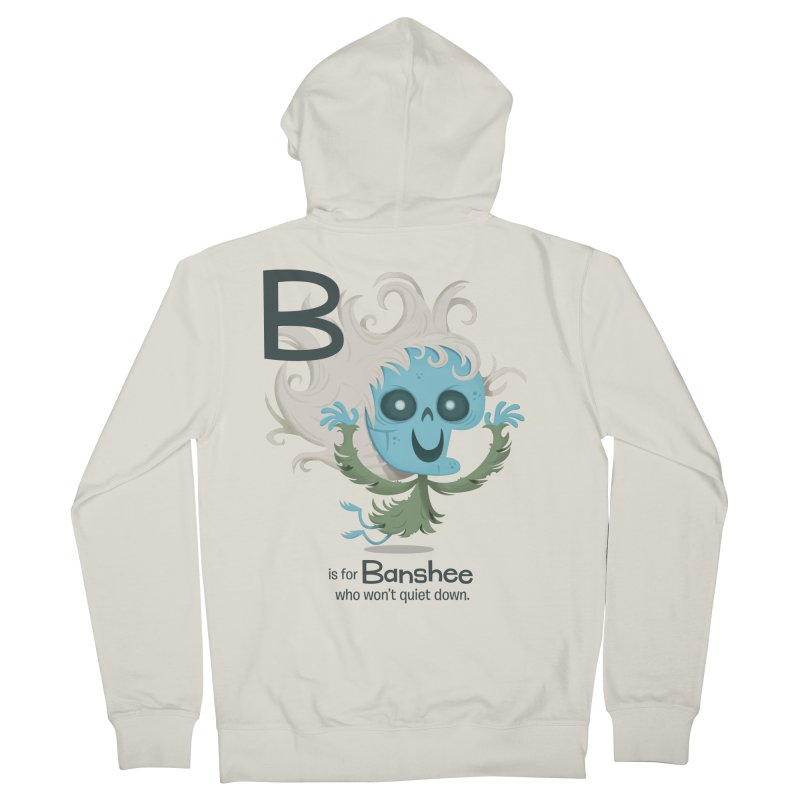 B is for Banshee Men's Zip-Up Hoody by Hazy Dell Press
