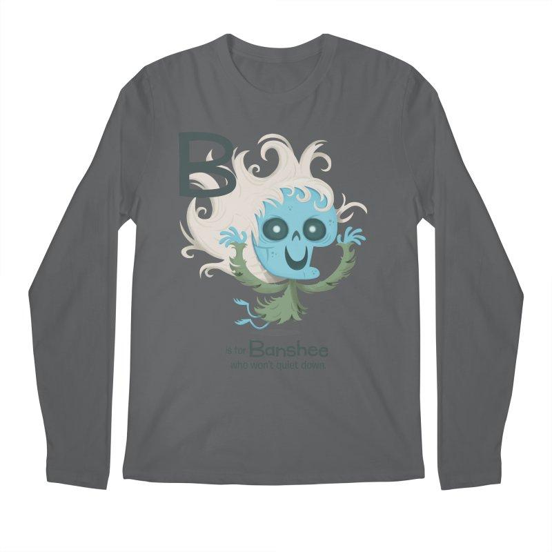 B is for Banshee Men's Regular Longsleeve T-Shirt by Hazy Dell Press