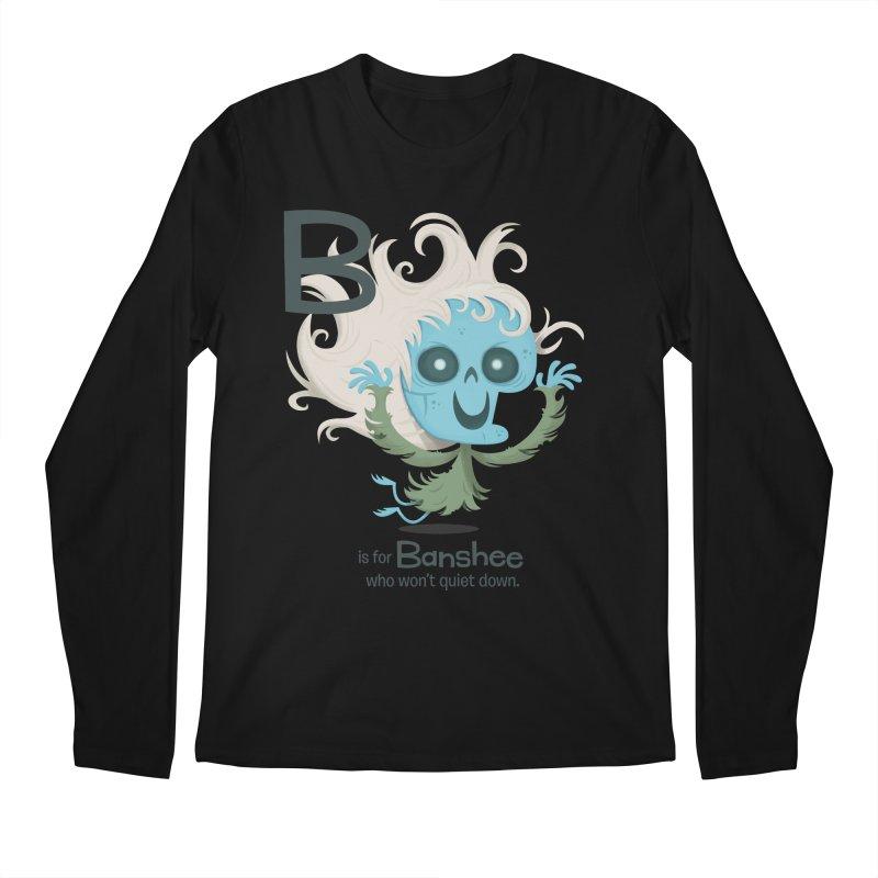 B is for Banshee Men's Longsleeve T-Shirt by Hazy Dell Press
