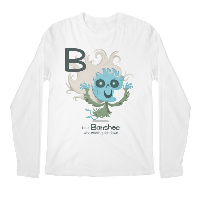 B is for Banshee Men's Regular Longsleeve T-Shirt by Hazy Dell Press