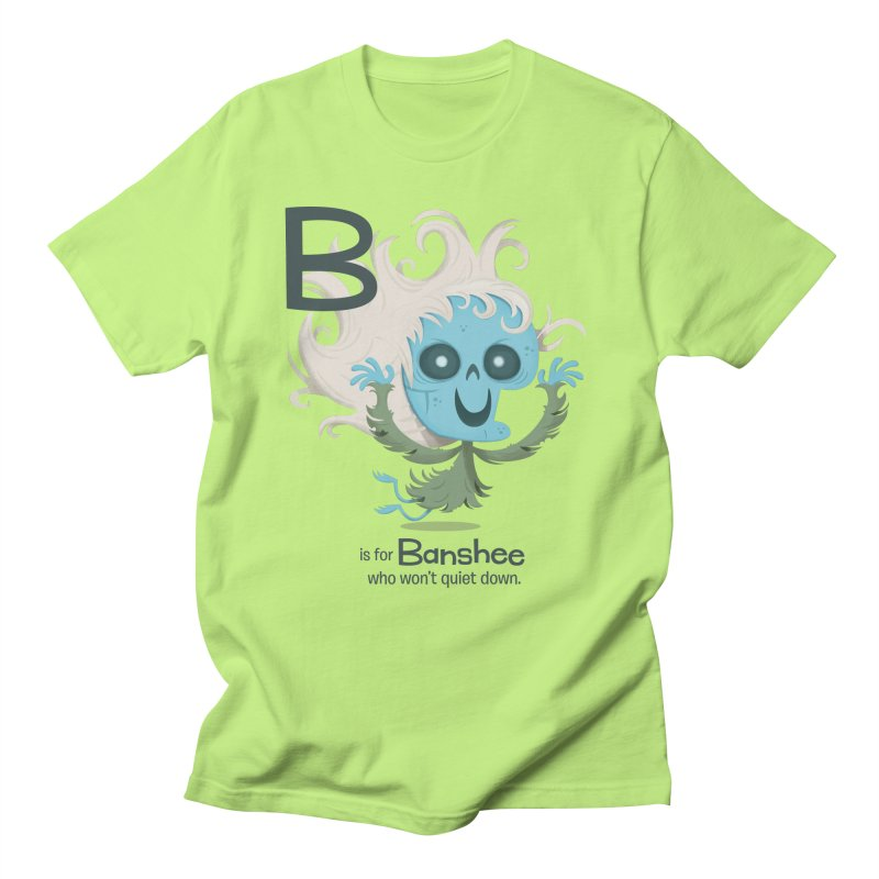 B is for Banshee Men's Regular T-Shirt by Hazy Dell Press