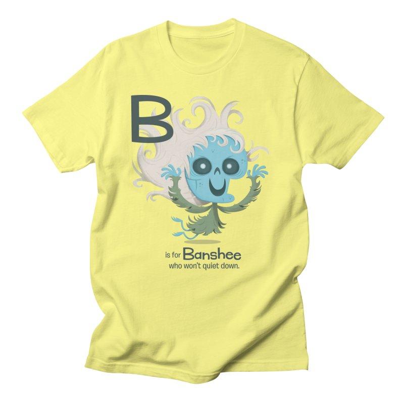 B is for Banshee Men's Regular T-Shirt by Hazy Dell Press