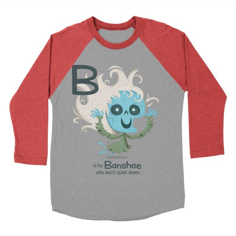 B is for Banshee Women's Baseball Triblend T-Shirt by Hazy Dell Press