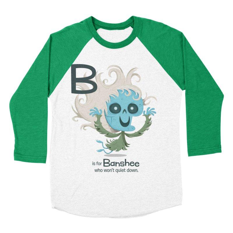 B is for Banshee Men's Baseball Triblend Longsleeve T-Shirt by Hazy Dell Press