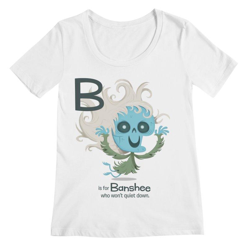 B is for Banshee Women's Scoopneck by Hazy Dell Press