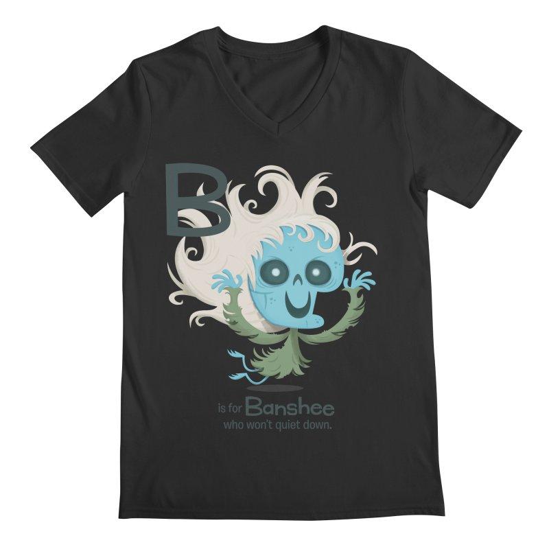 B is for Banshee Men's Regular V-Neck by Hazy Dell Press