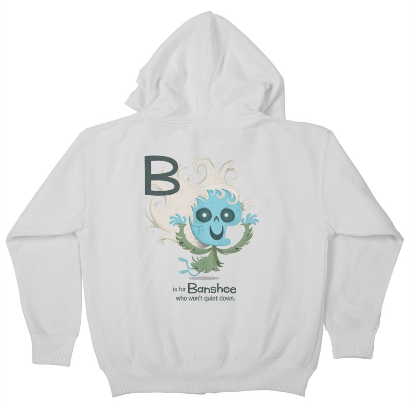 B is for Banshee Kids Zip-Up Hoody by Hazy Dell Press