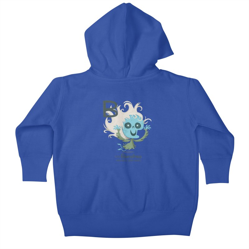 B is for Banshee Kids Baby Zip-Up Hoody by Hazy Dell Press