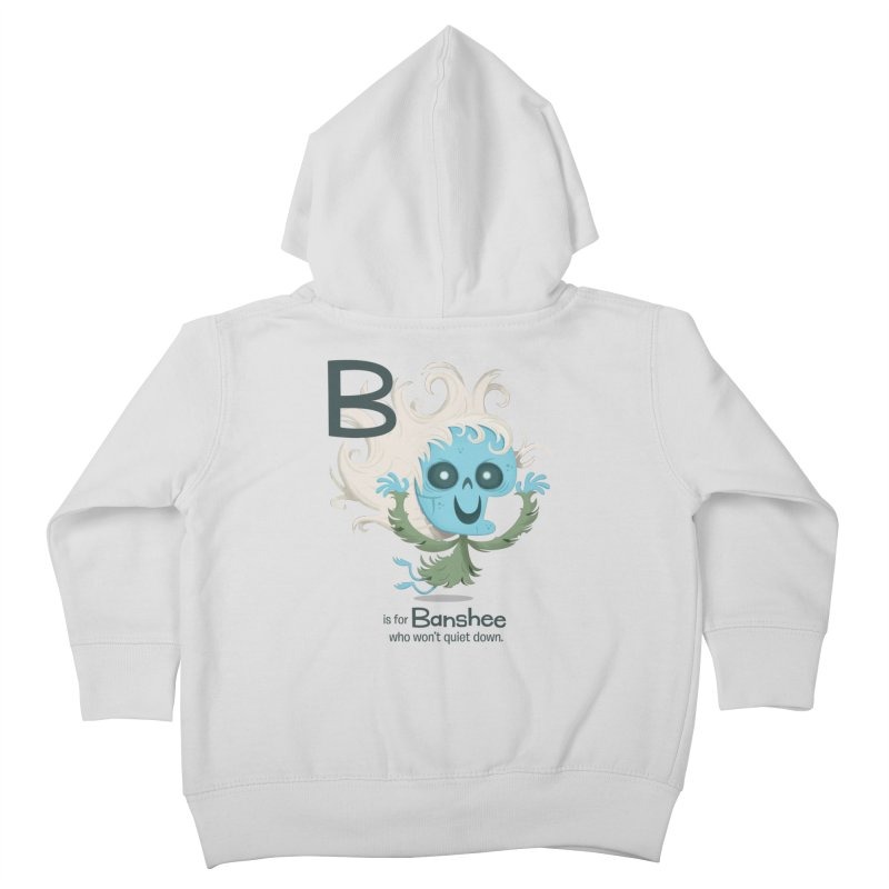 B is for Banshee Kids Toddler Zip-Up Hoody by Hazy Dell Press