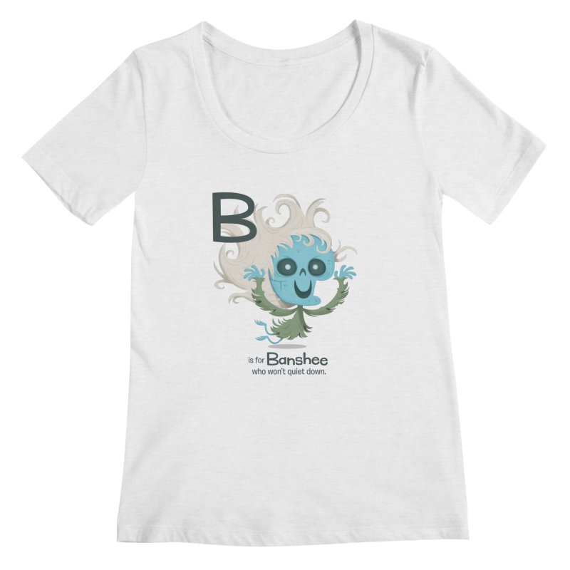 B is for Banshee Women's Scoop Neck by Hazy Dell Press