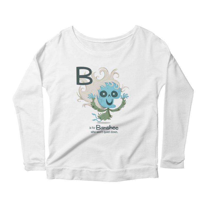 B is for Banshee Women's Scoop Neck Longsleeve T-Shirt by Hazy Dell Press