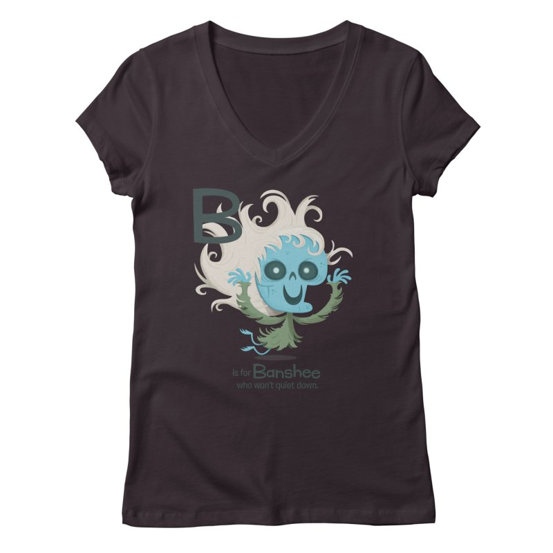 B is for Banshee Women's V-Neck by Hazy Dell Press