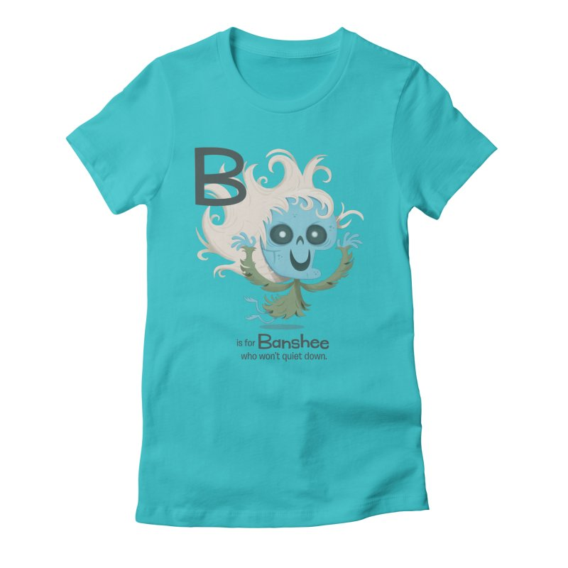 B is for Banshee Women's Fitted T-Shirt by Hazy Dell Press